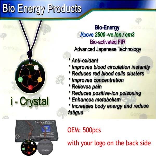 Advanced Japanese Technology Black Lava energy pendant with high quality & lowest price