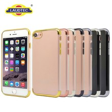 Newest electroplate transparent tpu cover for iphone 7 plus phone case