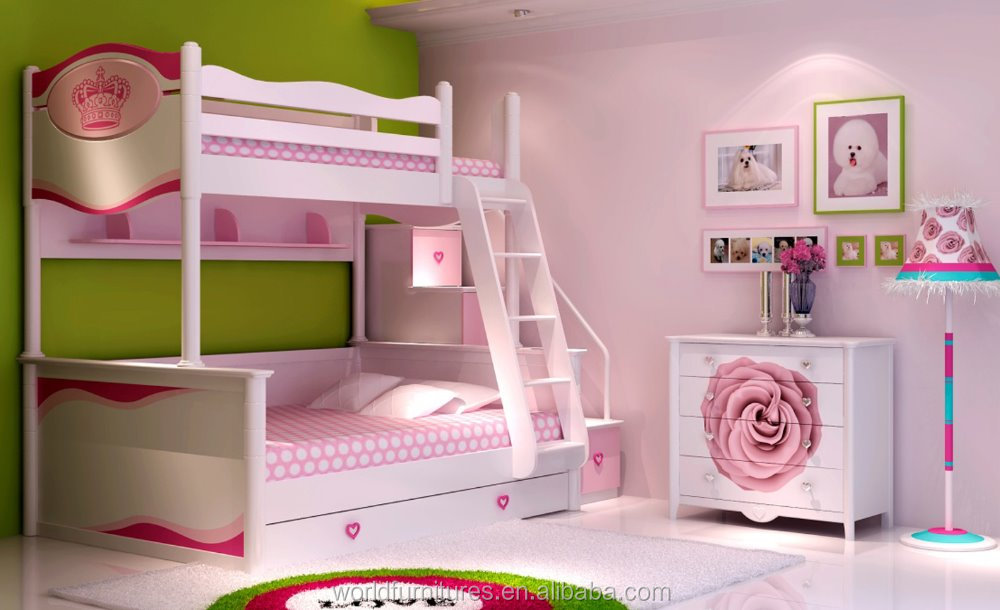 color life bunk bed girls double bed sheet