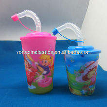 wholesale drinking reusable plastic cup lid straws