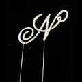 Diamante hot selling capital attractive 26 letter rhinestone cake toppers wedding