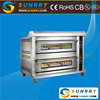 2 decks 6 trays commmercial electric bakery bread oven for sale