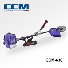 Chinese 2-stroke 43cc Petrol Brush Cutter, Gasoline Grass Trimmer with Nylon Cutter and 3T Blade CCM-630