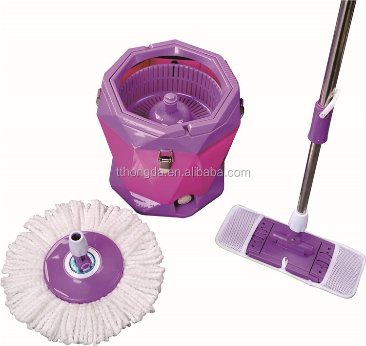 cheaper spin mop refill handlebar with 2 head