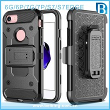 For iphone 7 Armor Impact Skin Holster Protector Combo Case cover, mobile phone Kickstand case For Samsung S7 S7edge