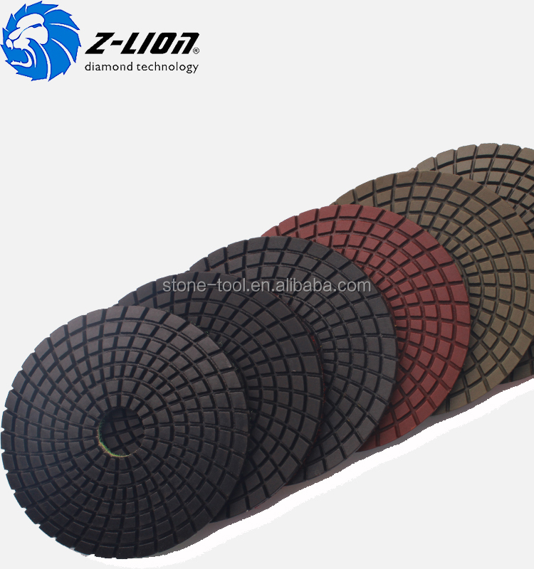Velcro backed 3 inch straight design diamond granite polishing pads for fllor polishing