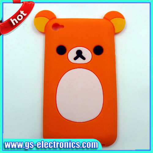 cute 3d cartoon case for ipod touch 4