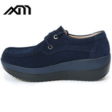 China Factory healthy women shoes walking pu leather shake shoes