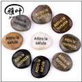 Wholesale engraved polished inspirational river stone