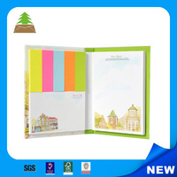 2016 fashion Pantone Color printed glued memo pad