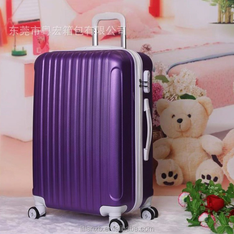 "Hot sales stripe ABS cheap trolley suitcase luggage 28""20""24"" design boarding trolley bags Trolley Case Luggage Case Suitcase"