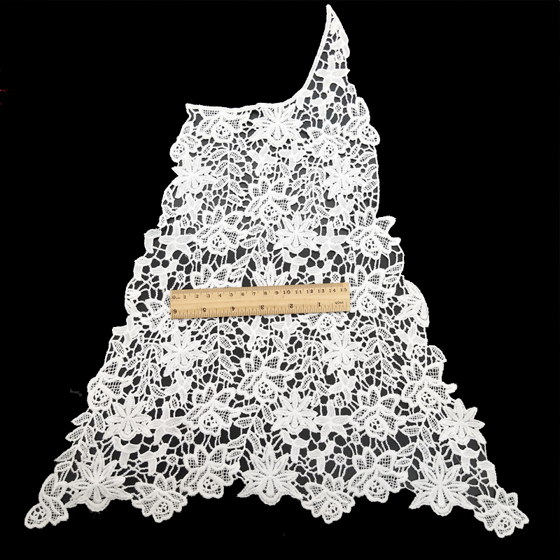 China lace custom fashion pattern embroidery polyester lace neckline collar