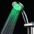 Built-in Generator Handheld RGB 3 Color LED Shower Head With Temperature Sensor Inside No battery Needed Prompt Lighting