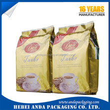 customized gravure printing coffee Eight side sealing flat bottom bag/square bottom biscuit bag /food plastic packaging