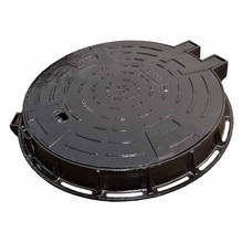 EN124 F900 round ductile iron heavy duty sanitary sewer manhole cover with hinge