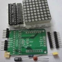 MAX7219 LED Dot Matrix Display Module MCU Control Module kit