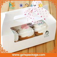 take away food packing folding paper cupcake box