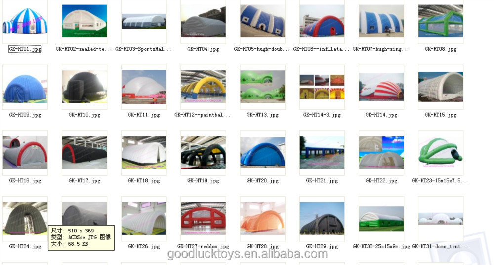 mobile portable inflatable spray booth gk-ht27