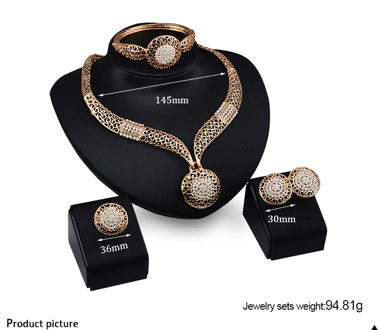 New 18K Gold Plated Jewelry Set SKJT0250