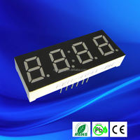 Ultra red 0.4041inch 4 digits led clock circuit board