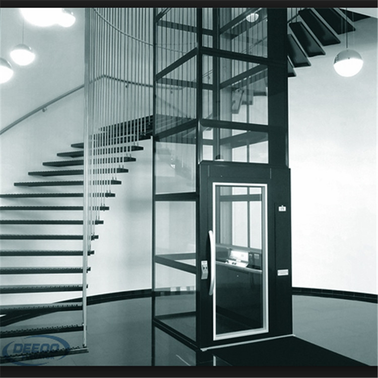 passenger building home glass villa mini lift and elevator