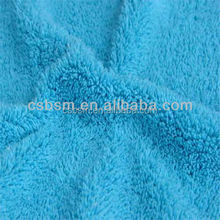 Solid Polyester Coral fleece fabric