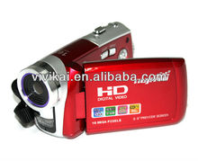 "Dual power options HD 720P 3.0""TFT LCD screen digital camcorder 16MP & 8x Digital zoom"