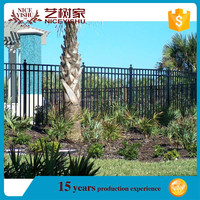 Factory directly Price wrought iron fence cheap/lowes metal lattice panels/iron fence for garden