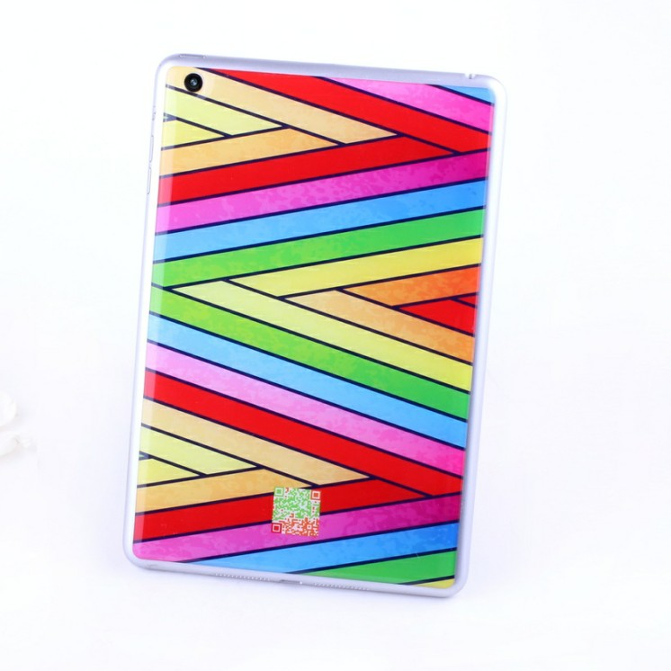 Good quality 3M gel imported raw materials sticker for apple ipad mini 16gb colorful designs