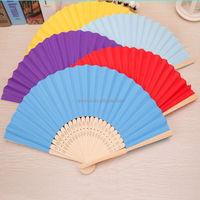 High quality custom printed portable folding bamboo hand fan for sale