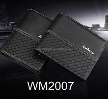2017 New Design Man PU Leather Smart Short <strong>Wallet</strong> With Knitted Pattern