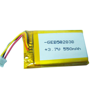 GEB 582838 3.7v 550mah lithium polymer battery for large capacity battery e-cigarette