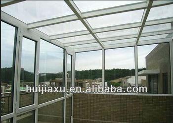 simple design balcony garden glass house veranda sunroom