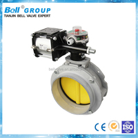 DN150 Pneumatic Actuator Powder Butterfly Valve Price