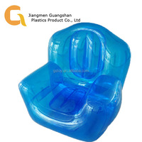 transparent blue home office inflatable couch sofa