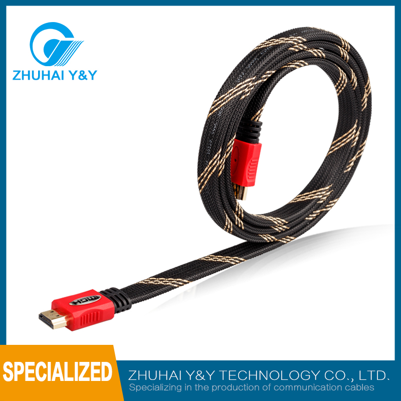 Hot sales high speed 1008p 1.4 HDMI cable Ready 3D 2160p /PS4 PS3 XBOX360 WII STB