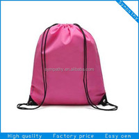 2014 promotinal eco 190T polyester drawstring bag
