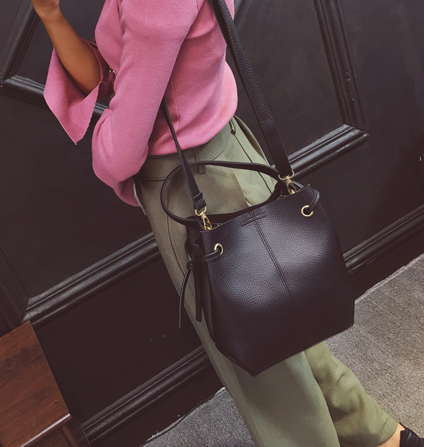 Free Shipping Hotsale Ladies Leather Side Bag Crossbody Messenger Women Handbag Ladies 2016