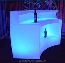 Outdoor used led round bar counter fashion led portable bar counter for party