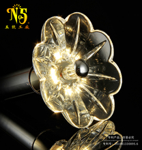 New design fashion style crystal energy saving flower shape led light bulbs for indoor decoration