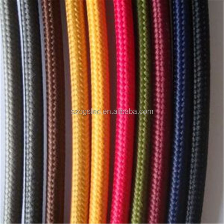 0.75 m2 Textile cord colorful electric wire