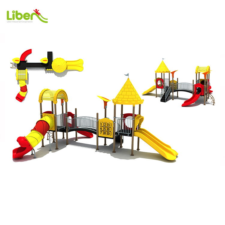 China Liben Commercial Plastic Used Children Park Outdoor Play Facility