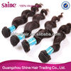 Guangzhou shine hair trading co., ltd best selling tangle free hair weft