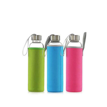 New product glass recycling water bottle fruit infuser water bottle glass