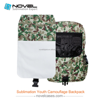 China Wholesales price, Youth Camouflage backpack for sublimation