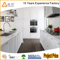 Cheap Price Professional Design White Wood Modern Kitchen Cabinet