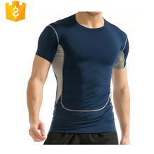 OEM/ODM 2017 High quality custom T shirts Dry fit compression streched mens sports wear for fitness running