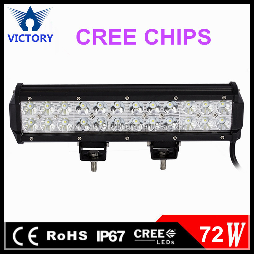 72W LED Light Bar Driving Light Waterproof for Jeep off road Van Camper Wagon ATV AWD SUV 4WD 4x4 Pickup Van Off-road