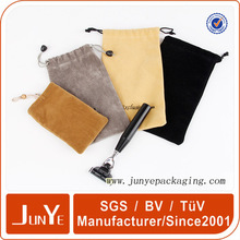 high quality hot stamping customization made logo velvet bags for packing gift