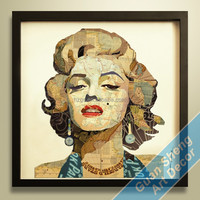 customized image arts/ acrylic wall art for decor/ wooden painting arts